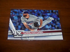 LOS ANGELES DODGERS CHRIS HATCHER 2017 TOPPS SILVER ALL-STAR STAMPED #325