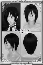 Kuroshitsuji Short,Black Butler Sebastian Michaelis wig Anime, Cosplay