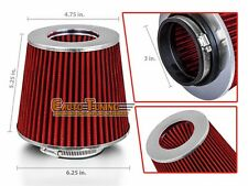 """3"""" Short Ram Cold Air Intake Filter Round/Cone Universal RED For Mazda 1"""