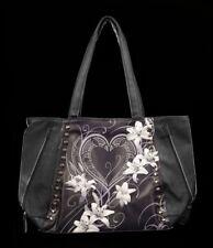 Kunstleder Tragetasche - Pure of Heart - Spiral Damentasche Blumen Herzen