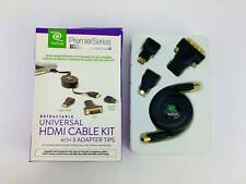 ReTrak ETCABLEHDM Retractable HDMI Cable Mini HDMI - DVI- Micro HDMI