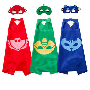 PJ Mask Cape Mask Gekko Owlette Catboy Cosplay Kid Costume Halloween Party Gift