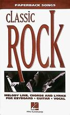 Paperback Songs: Classic Rock: Melody Line, Chords and Lyric for Keyboard, Guita