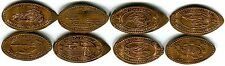 Daytona Beach World's Most Famous Beach Collection Of 8 Souvenir Pressed Pennies