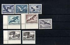 AUSTRIA , 1950 , 1052 , 1953 , scarce full set AIRMAIL STAMPS , BIRDS , MNH !