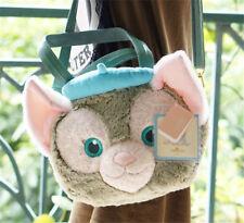 New Japan Sea Duffy Friend Gelatoni Cat Face Big Plush Bow Tote Bag So Cute Cat