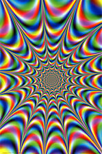 FRACTAL ILLUSION POSTER (61x91cm) PSYCHADELIC TRIPPY ACID PICTURE PRINT NEW ART
