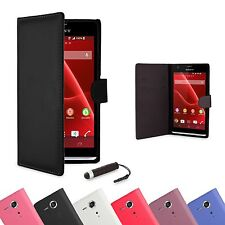 NEW PU LEATHER WALLET CASE COVER FOR Sony Xperia S LT26i +FREE SCREEN PROTECTOR