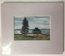 Renate H Eckart Print Pavilion at Thousand Island Park NY Matted