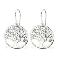 925 Sterling Silver Tree of Life Drop/Dangle Earrings