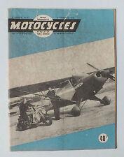 ANCIENNE REVUE MOTOCYCLES N° 62 - 1 NOVEMBRE 1951 *