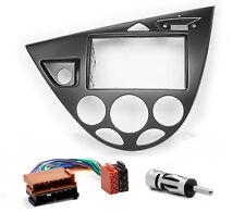 Carav 11-548-9-6 autoradio radio diafragma set para ford focus 2-din negro