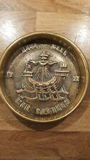 VINTAGE HEAVY BRASS 1932 MTE CHATHAM NAVY WEEK NÀVAL MEMOROBLIA