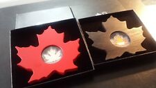 Canada 2015 and 2016 $20 Fine Silver Cut Out Maple Leaf Coin (Lot of 2)