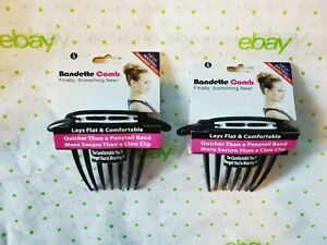 Loc A Loc Bandette Comb Hair Accessory 2 Pack Black So Comfortable New