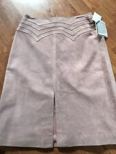 Margaret Godfrey Suede Leather Skirt Size 4 Baby Pink Color