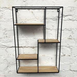 Wood Wire Metal Locker Room Wall Floating Storage Display Shelf Unit CLEARANCE
