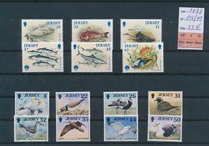 LN29578 Jersey 1998 birds fish sealife fine lot MNH cv 23 EUR