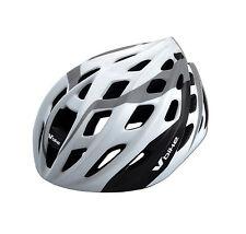 Casco Ciclismo Deportivo Blanco y Carbono Bicicleta Carretera MTB Talla L 2961bl
