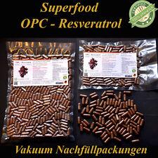 500 OPC Resveratrol Vegi Kapseln  aus 100% Traubenkernmehl und Traubenkernöl