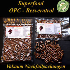 500 OPC Resveratrol Vegi Kapseln 100%  Bio Traubenkernmehl mit Öl