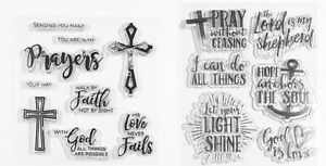 Cling Acrylic Stamps-Words/Phrases Christian Jesus Prayers God Lord Faith Cross