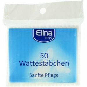 Elina Med 50 Wattestäbchen im Polibeutel