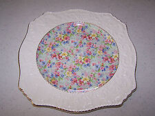 ROYAL WINTON GRIMWADES MARION PATTERN EMBOSSED CHINTZ 12 INCH SQUARE PLATE