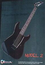 1986 Charvel Model 2 guitar photo print Ad