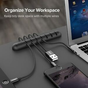 USB Cable Holder Cable Winder Ugreen Silicone Cable Organizer Management Clips