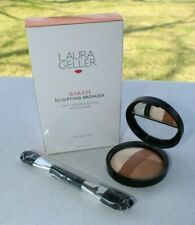 Laura Geller - Baked Sculpting Bronzer (Med/Tan) with Double Ended Brush- NIB!