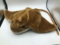 Large Wild Republic Adult Stingray Brown Ray Plush Kids Soft Stuffed Toy Animal
