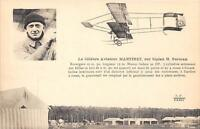 CPA AVIATION LE CELEBRE AVIATEUR MARTINET SUR BIPLAN FARMAN