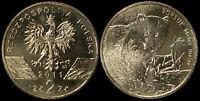 Pologne. 2 Zloty. 2011 (Pièce KM#Y.762 Neuf) Blaireau européen (Meles meles)