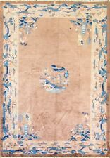 "5'6"" x 8'4"" Magnificent Antique Art Deco Chinese Peking Oriental Carpet,#16920"