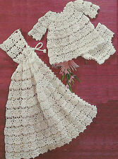 "Beautiful Baby Crochet Pattern Angel Top Pants and Carrying Cape 20"" 689"