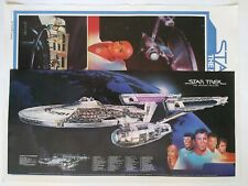 "Vintage Star Trek Tmp "" Enterprise"" Poster 1979 Coca Cola plus Movie poster"