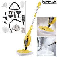 VOCHE® 16 in 1 1300W HOT STEAM MOP HAND HELD STEAMER FLOOR CLEANER CARPET WASHER