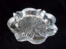 "Vintage Mid~Century BLENKO Large 8"" Clear textured Ice Cube  Art Glass Ashtray"