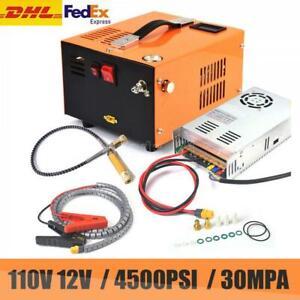 Portable electric PCP Air Compressor pump rifle oil free Hight Pressure 4500PSI