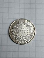 Prachtstück 1 Reichsmark 1915 A in Top-Erhaltung RM in Silber Kaiserreich