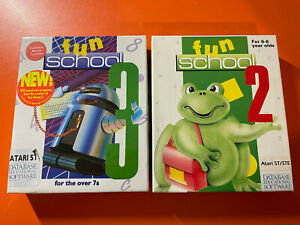 FUN SCHOOL 2 AND 3 KIDS LEARNING - ATARI ST - @LOOK@ COMPLETE WITH BOX