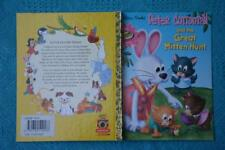 Little Golden Book: Peter Cottontail - Mitten Hunt 1st Edition 2000 Mustard Back