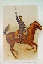 Schweiz Feld-Artillerie Offizier Hauptmann Kavallerie Säbel Uniform Galopp Genf