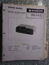 Sanyo RM 5400 service manual original repair book am fm digital clock radio