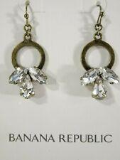 702052b92257 Banana Republic Latón Antiguo Círculo Cristal Ventilador Pendientes Nwt 45