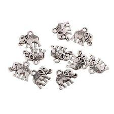 10pcs Tibetan Lovely Elephant Shape Silver Bead Charms Pendants fit DIY