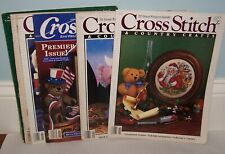 Vintage Cross Stitch & Cross Quick Magazines Plus Pineapple Welcome Pattern