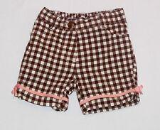 "Gymboree ""Ice Cream Social"" Brown & White Gingham Bermuda Shorts, 3-6 mos."