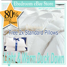 ULTIMATE WARMTH 80% DUCK DOWN QUILT DOONA DOUBLE BED for WINTER